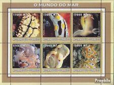 Mosambik 2602-2607 Velletje postfris MNH 2002 Wereld van Marine