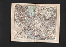 Landkarte map 1899: PERSIEN. Kaspisches Meer Afghanistan Hindukusch Belutschista