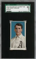 Rare 1909-11 T206 Harry Krause Portrait Sovereign 350 Phila SGC 60 / 5 EX