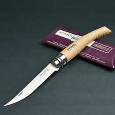 Opinel #10 Slim French Made Beechwood Handle Folding Knife 00517