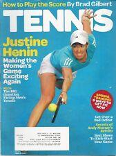 TENNIS MAGAZINE~MAY 2010~JUSTINE HENIN~ COMPLETE MAGAZINE