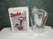 New Vintage Starlet 6 Cup Espresso Coffee Maker NIB Made in Italy