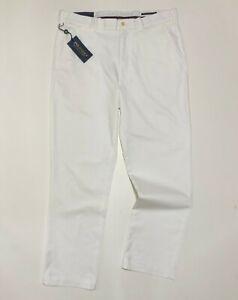 Ralph Lauren Golf  Chino Pant POLO GOLF White Cotton Twill Stretch 32, 33,36, 40