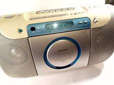 Sony CFD-E100 Boombox CD Radio Stereo Cassette Tape Player Recorder CFD-E100L