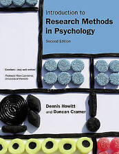 Introduction to Research Methods in Psychology by Howitt, Dennis, Cramer, Dunca