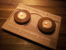 Deko-Kerzenständer & -Teelichthalter im Art Deco-Stil aus Holz