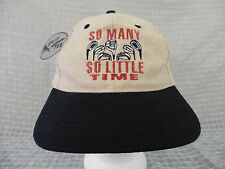 "GOLF HUMOR Hat Cap ""So Many Clubs, So Little Time"" NEW NWT Adjustable Strapback"