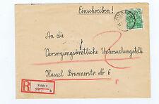 BIZONE/Bande-netzaufdruck, Mi. 51ii, EF, R-Lettre Fulda/AKS
