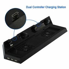 PS4 Cooling Stand Fan Dual Charging Dock With USB HUB Ports For PlayStation 4