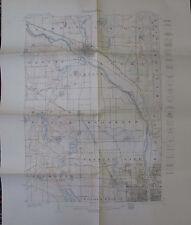 Folded Color Map Topography Minnesota Anoka Quadrangle Osseo Minneapolis 1915