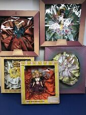 7� Vintage Lot Of 5 Melody Dolls Cinderella Springtime Czech Scotts W/ Boxes #C