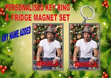 Johnny Depp Christmas Key Ring & Fridge Magnet Gift Set Secret Santa Gift