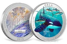 "2016 Guy Harvey Series ""Orca Killer Whale"" 1 oz Silver Colorized Proof USA Round"