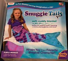AS SEEN ON TV KIDS SNUGGIE TAILS SUPER SOFT BLANKET PURPLE MERMAID BRAND NEW