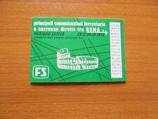 1972 ORARIO ESTIVO FERROVIE ROMA FS FERROVIARIE CARROZZE FS