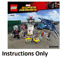 NEW INSTRUCTIONS ONLY LEGO SUPER HERO AIRPORT BATTLE 76051 book from set