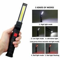 COB Arbeitsleuchte LED AKKU KFZ USB Taschenlampe Stablampe Werkstatt Handlampe#