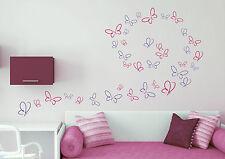 18 Schmetterlinge Kinderzimmer Baby Geburt Mädchen Deko Wandaufkleber WandTattoo