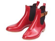 Damen GUMMISTIEFEL Gr. 38 chelsea Regenstiefeletten Rot  stiefel stiefeletten