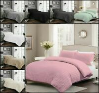 Luxuries SEERSUCKER Ruffle Pleated Printed  Duvet Quilt Cover Set all Size