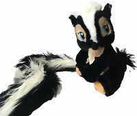 "12"" DISNEY PARKS BAMBI FLOWER SKUNK 40"" LONG BOA TAIL STUFFED ANIMAL PLUSH TOY"