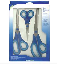 3 Pair Soft Grip Scissor Pack - 13cm 22cm & 25cm Right or Left Handed - XV380.20