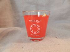 Vintage Expo 67 Montreal Red Drink Glass Tumbler 1967 World's Fair