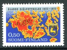 Finland Stamps Scott #516 Map and Arms of Aland 1972 Mlh