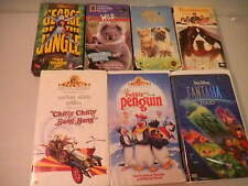 Disney,mgm and more Vhs  Kids tapes fantasia beethoven milo&otis Lot of 7