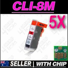 5x Magenta Ink for Canon CLI8M MP830 MP960 MP970 MX850 iP4200 iP4300 iP4500