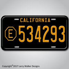ADAM-12 LAPD  Belvedere E 534293 Replica Prop Aluminum License Plate Tag