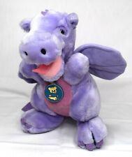 Vintage 1983 Dakin Purple Dragon Plush Duncan Stuffed Animal Nature Babies 1980s