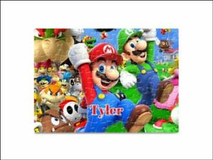 Super Mario 80 Pieces A5 Jigsaw Puzzle - Lockdown Kids Game -   Personalised