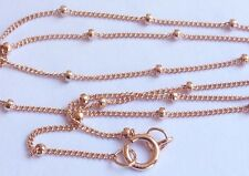 Rose gold filled satellite chain 18 inch finished necklace jewelry finding