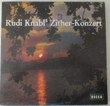 """12"""" LP Vinyl Rudi Knabel """"Zither Konzert"""" Decca"""