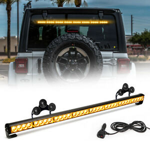 "36"" 13 Modes Traffic Advisor Emergency Warning Strobe Light Bar Kit ( Amber )"