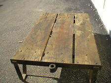 Antique Warehouse Oak Trolley Cart, Truck, Coffee Table