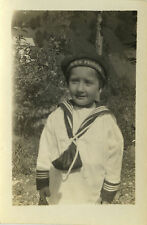 PHOTO ANCIENNE - VINTAGE SNAPSHOT - FILLE COSTUME MARIN MODE-GIRL SAILOR FASHION