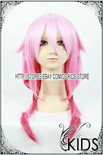 Guilty Crown YUZURIHA INORI cosplay wig costume Pink colour