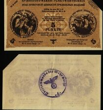 Russia Germany Ostland Wi in nord - 5 Punkte - 1943/1944, KR#37, canceled