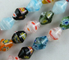 50cs Millefiori Glass Bicone Spacer Beads 8x10mm P183