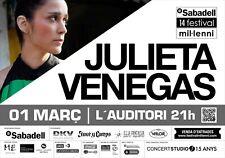 Julieta Venegas Sabadell Festival 2014 Spain Concert Poster -Spanish Indie Music