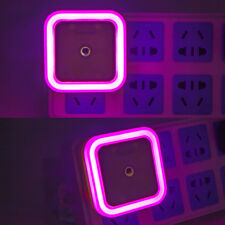 EU Rosered Plug Auto LED Light Induction Sensor Control Lamp Night Light Bedroom