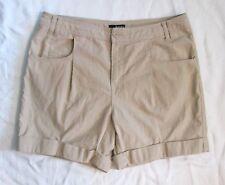 Ana A.N.A. Khaki Tan Beige Ladies Safari Shorts Cotton Short Shorts sz 14