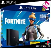 PS4 PLAYSTATION 4 PRO 1TB FORNITE CODIGO CUPON 2000 PAVOS TRAJE NEO VERSA OFERTA