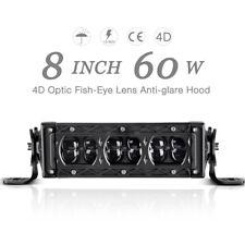 8inch LED Light Bar 4D 60W Off Road Bumper Driving Jeep Truck Boat ATV 4X4WD 7''