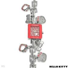 HELLO KITTY Brand New Watch With Genuine Red Crystal Charms