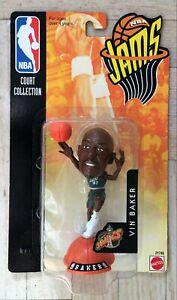 NEW 1998 Mattel NBA Jams Action Figure Vin Baker Seattle Super Sonics
