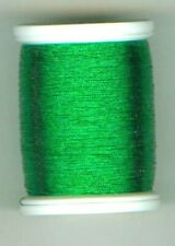 "Obsolete Gudebrod Rod Winding Thread Metallic Green ""D"" # 9358 Building/ Repair"