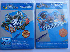 SkyLanders Birthday Invitations 8 COUNT and Thank you Cards 8 COUNT